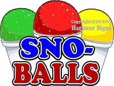 Sno Balls Decal Choose Your Size Snow Cones Concession Food Truck Sticker