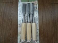 Japanese Chisel Oire Nomi Carpentry Tool SET of 3 Japan