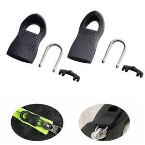 10x Detachable Universal Zipper Puller Set with Anti-slip Particles Size S/L New