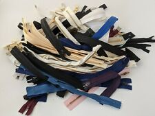 Job Lot 100 x Zips in Assorted Lengths & Colours Lot 6