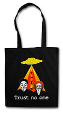 TRUST NO ONE HIPSTER TOTE BAG Akte X-Files UFO X TV Series Stofftasche Tasche
