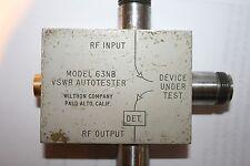 Wiltron VSWR Autotester Model 63NB