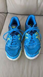 Asics Trainers Size 5 Junior Boys / Mens Gel-Rocket Indoor Court Shoes Blue