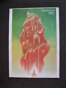 USSR 1980 MOSCOW Olympic Games Unusual Vintage Olympic POSTER  from Russian Art
