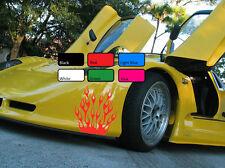2 X Flame 112 Car Sticker Fire Sport Drift Tuning Vinyl JDM WV Decal Art Racing