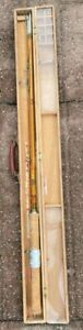 Gold Tiger Vintage Bamboo 4 Piece Spinning/Casting/Fly Fishing Rod w/ Wood Case