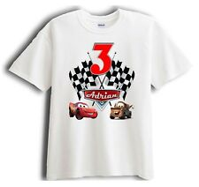 Cars Personalized - Birthday T-Shirt Party Favor