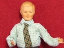 Dollhouse Dressed Man Caco DHS0091 Tie Lt Blue Shirt Sculpted Hair Miniature