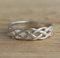 Solid 925 Sterling Silver Band/Thumb Ring Celtic Knot Band Ring Various Sizes
