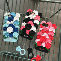 2018 Style 3D Rose Flower Soft Silicone Phone Case Cover For iPhoneX 6s 7 8 Plus