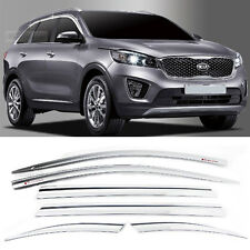 Chrome Window Sun Vent Visor Rain Guards 6P D600 For KIA 2015-2018 Sorento UM
