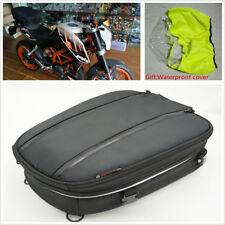8-14L Motorcycle Back Seat Tail Bag Helmet Bag Luggage Bag With Waterproof Cover