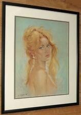 NUDE LADY Wall Art, 20''x16'' incorniciato LADY ritratto, C Parisi, Colette stampa