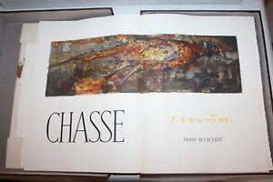 """Rare livre en coffret """" Chasse """" de Jean Commère 1964 éditions Pierre de Tartas"""