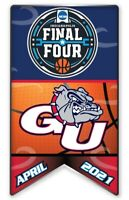 FINAL FOUR GONZAGA UNIVERSITY LOGO PIN 2021 MARCH MADNESS COLLEGE BASKETBALL