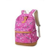 Women Canvas Vintage Backpack Rucksack College Shoulder School Bag Satchel Tavel