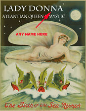 BEAUTIFUL PERSONALIZED ATLANTIC MYSTIC QUEEN SIGN READY TO FRAME GORGEOUS