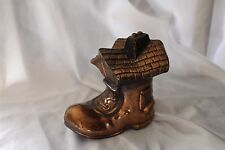 Vintage Bronze Bank The Old Woman Who Lived in a Shoe 1950s USA Shoe House