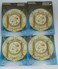Vintage Brass Wire Plate Holder made in Hong Kong set of 4