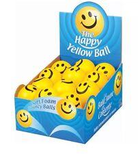 Kidz Happy Yellow Foam Ball Smiley Face Squeeze Bouncy Stress Relief Fidget Toy