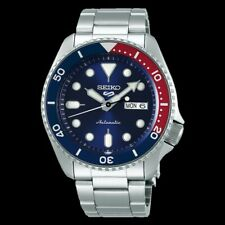NEW Seiko 5 Sports 100M Automatic Men's Watch Pepsi Bezel Blue Dial