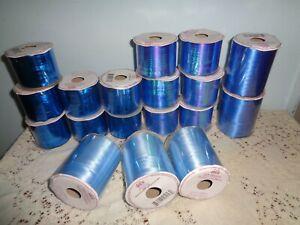 LARGE LOT OF 18 VOILA BLUE/BLUE IRIDESCENT CURLING RIBBON