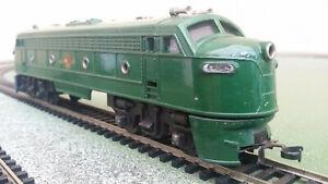 Tri-Ang OO gauge R159 double-ended diesel locomotive, repainted BR green, runs