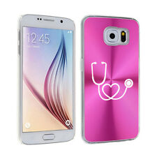 For Samsung Galaxy S7 S4 S5 S6 Edge + Hard Case Cover Heart Stethoscope Nurse