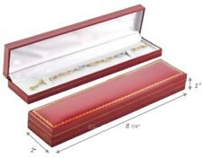 24pc Red Bracelet Boxes Wholesale Watch Gift Boxes Red Faux Leather Quality Box