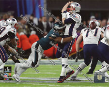 Brandon Graham Philadelphia Eagles Strip Sacks Tom Brady Super Bowl 8x10 Photo