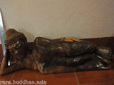 Beautiful Hand Carved Teak Wood Thai Buddha statue exceptional quality carving