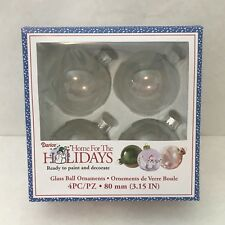 Darice Glass Ornament Balls with Silver Filigree 80 mm Clear