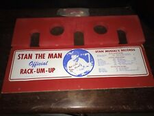STAN MUSIAL STAN THE MAN OFFICIAL RACK EM UP BAT HOLDER