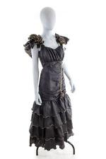 Vintage Ballkleid Abendkleid dramatisch schwarz gold WEISE FESTMODEN Fishtail 38