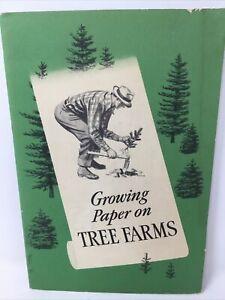 GROWING PAPER ON TREE FARMS - VINTAGE, ORIGINAL MID-CENTURY BOOKLET VG+