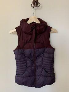 Lululemon Athletica Down For A Run Vest Size 4 Goose Winter Coat Jacket Warm Zip