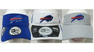 New Era Buffalo Bills Adjustable Visor Cap/Hat, Blue White or Gray B4 206