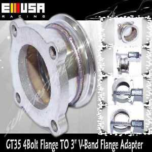 """Steel Adaptor fit GT35 4 Bolt Flange TO 3"""" V-Band Flange turbo elbow Downpipe"""