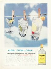 1959 Fleischmann's GIN Drinks Martini Tom Collins Gin 'n Tonic PRINT AD