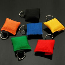 5X New CPR Resuscitator Mask Keychain Key Ring Emergency Face Shield Rescue Hot
