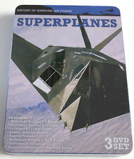 NEW 3 DVD set: Superplanes History of Warfare Air Power in Metal Tin