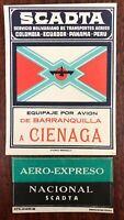 SCADTA Barranquilla to Cienaga Luggage Tags - Colombia / Ecuador / Panama / Peru