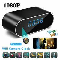 New 1080P Mini Camera Clock WiFi Wireless Night Vision Security Nanny Camera