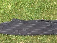 Pantalone cotone donna nero gessato con tasconi DennyRose