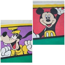 Vintage Disney Mickey Mouse Goofy Pillowcase Colorblock Standard Size 50/50 USA