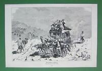 MAIL Delivery in Algeria Horse Driven Postal Carriage - VICTORIAN Era Print