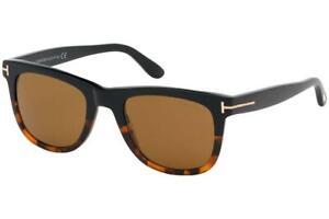 Tom Ford Leo TF 336 05E Havana & Black Sunglasses Sonnenbrille Brown Lens 52mm