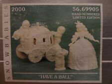 NEW Dept56 69905 Snowbabies Disney Have A Ball Cinderella Carriage Hand Numbered