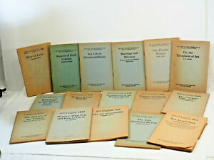 Little Blue Books 16 Antique Edited By Haldeman-Julius Girard Kansas Sex Theme