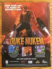 Duke Nukem Gameboy Color 1999 Video Game Poster Ad Art Print Rare HTF